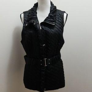 White house black market quilted belt vest